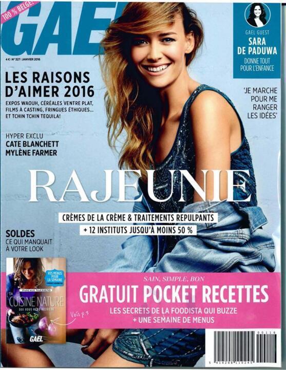 """La famosa revista belga """"Gael Belgique"""" nos publica un vestido"""