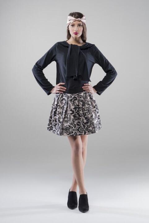 falda estampada corta
