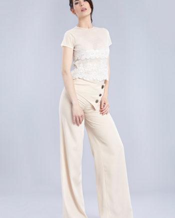 Blusa blanca de encaje Emelyn