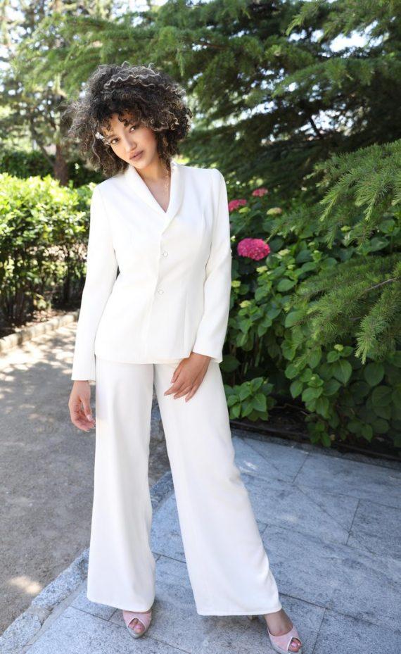 chaqueta blanca de fiesta