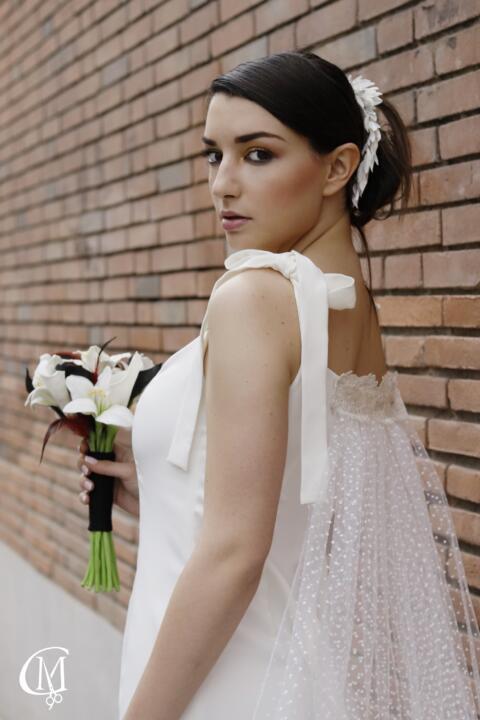 vestido de novia a medida Valérie Moreau madrid