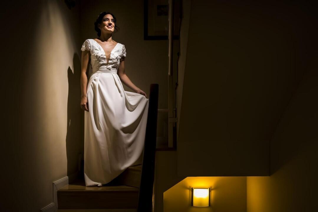 vestido de novia a medida Madrid clienta