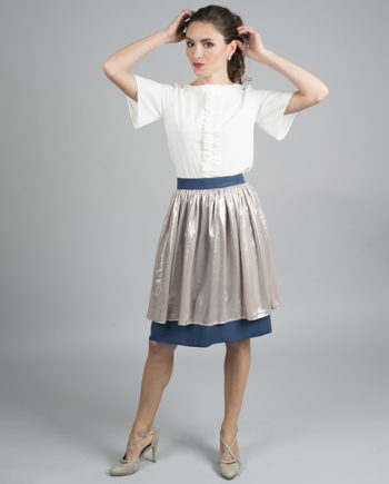 falda con vuelo Lana