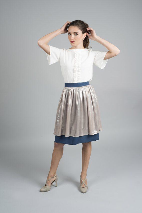 falda de fiesta con vuelo Lana