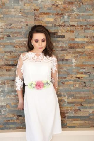 vestido corto blanco