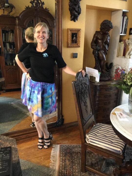 falda de fiesta estampada