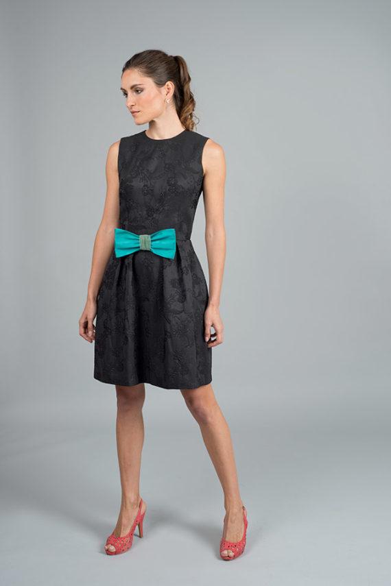 vestido de noche negro corto