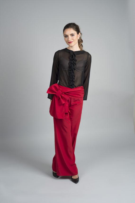 blusa negra para señoras