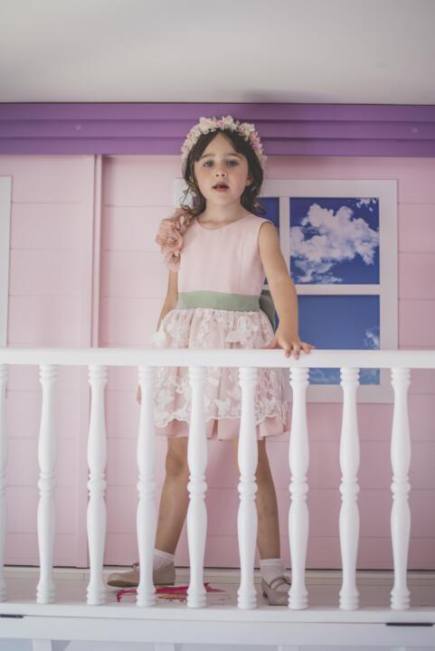 vestido de ceremonia para niña rosa