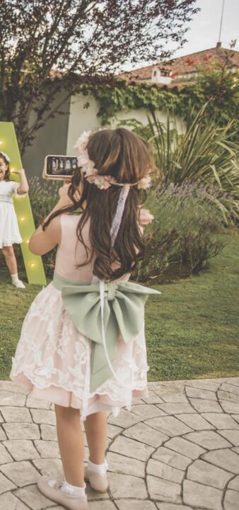 vestido de ceremonia de arras para niña