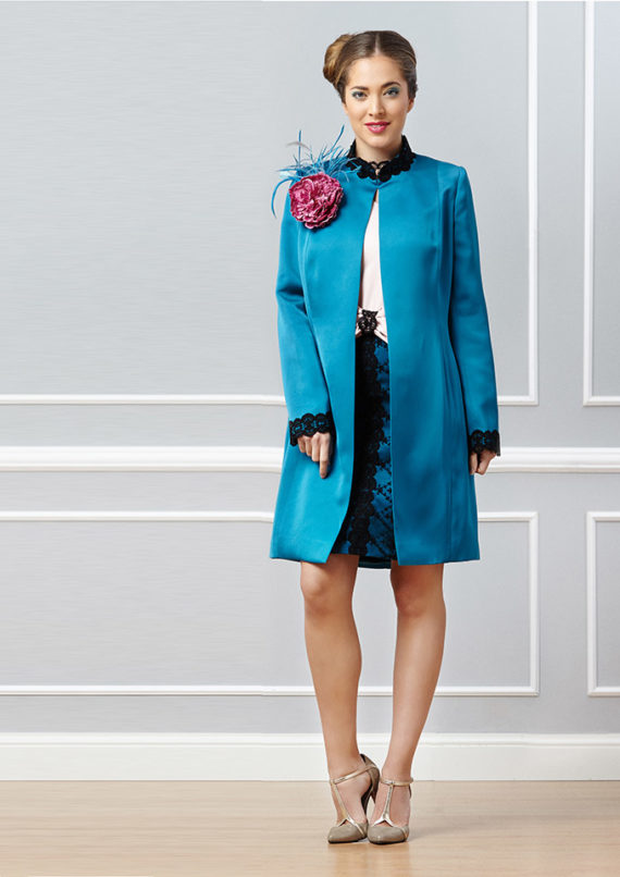traje de chaqueta turquesa Cerisier