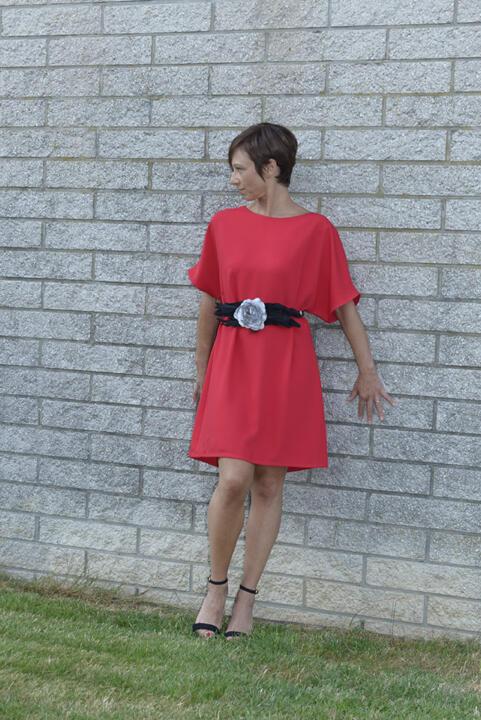 vestido corto para señoras rojos