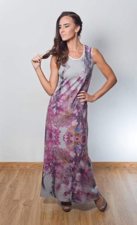 vestido de fiesta estampado
