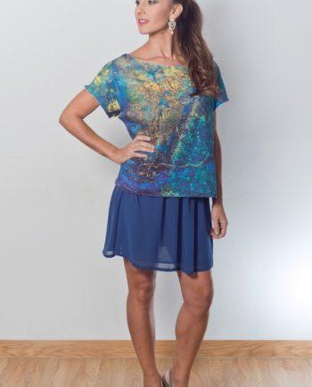 blusa estampado unico