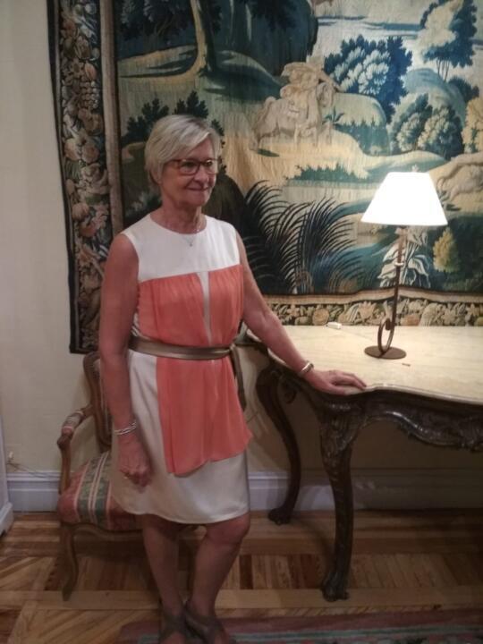 vestido de fiesta para señora