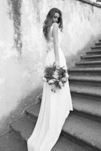vestido de novia largo con cola