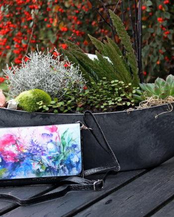 bolso de fiesta estampado floral