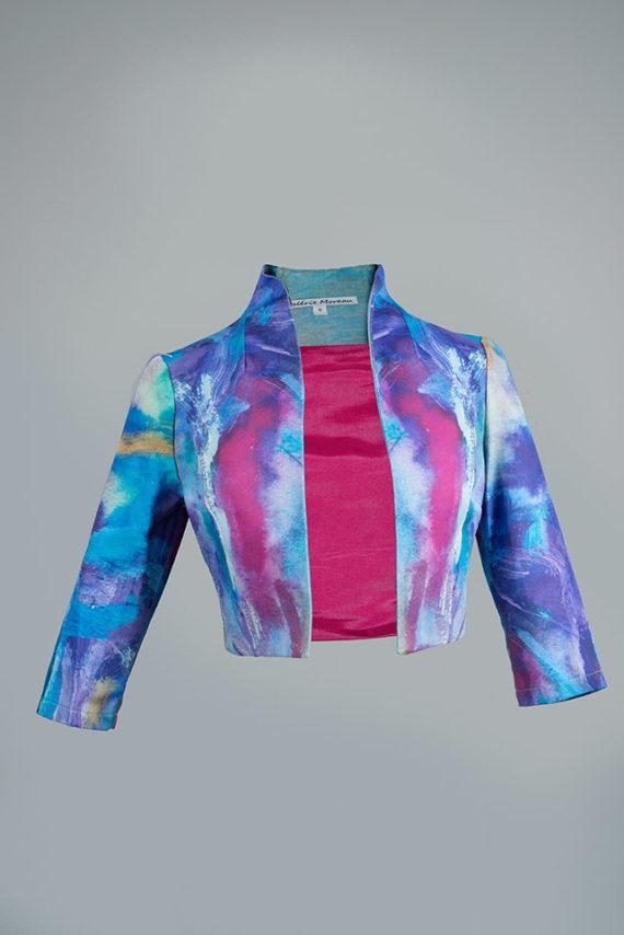 chaqueta de fiesta estampada