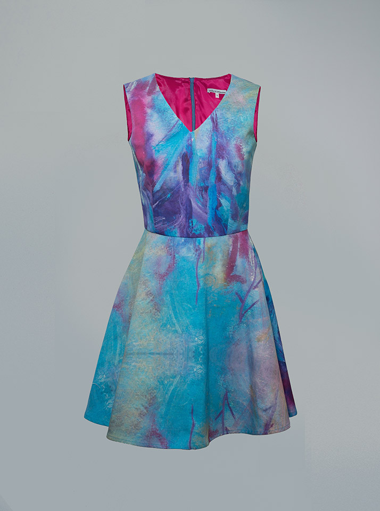 b41580a839 Inicio   Vestidos   Vestidos estampados   vestidos cortos estampados   Vestido  corto estampado Orquidée