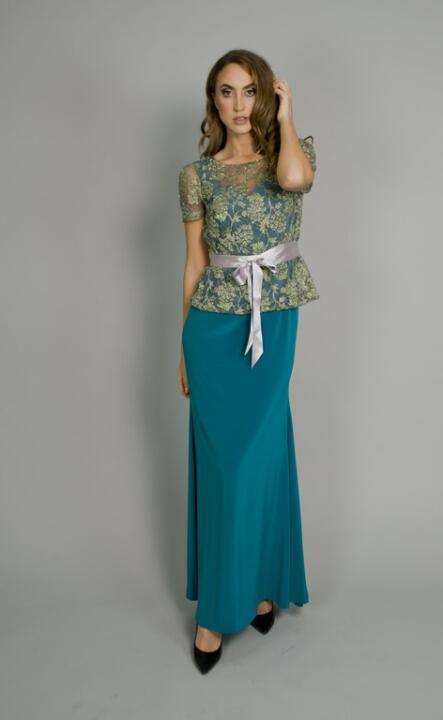 vestido turquesa de madrina