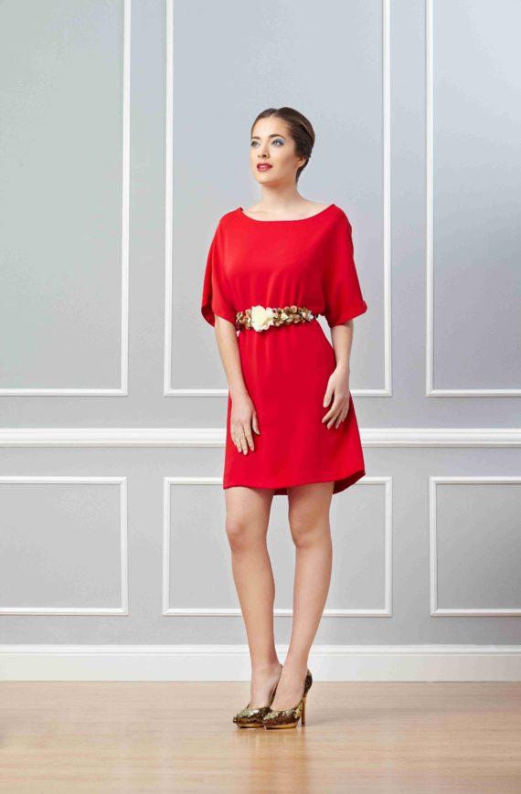 vestido rojo para señora