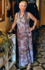 Vestido de fiesta largo estampado