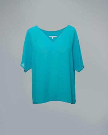 Blusa de fiesta turquesa CYTISE
