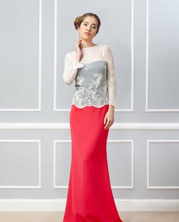 falda roja Lia